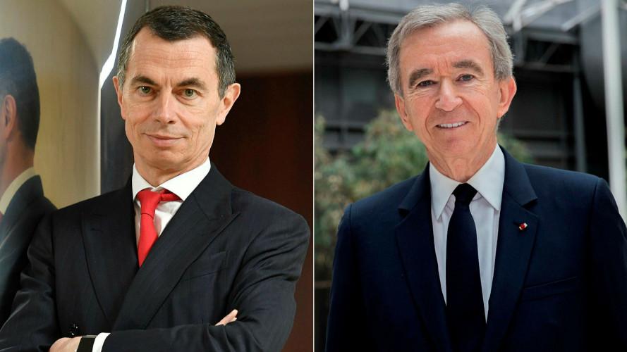 Bernard Arnault e Jean-Pierre Mustier